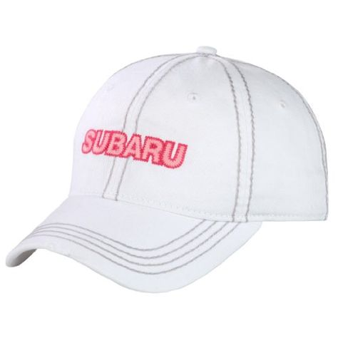 Genuine Subaru Women s Ladies White Baseball Cap Hat. A ladies Subaru cap  just for you. One Size Fits Most. Fabric strap with slide buckle. 366dbf6ac0dd
