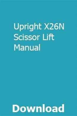 Upright Scissor Lift Wiring Diagram from i.pinimg.com