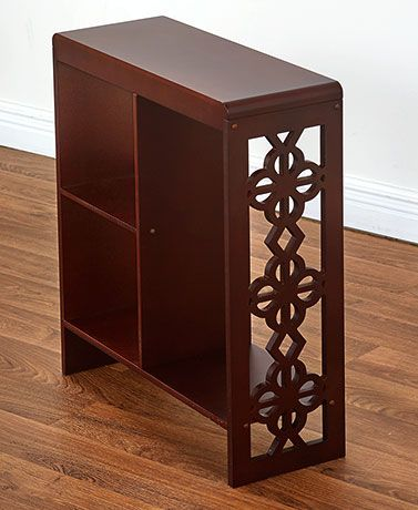 Slim Side Table With Cutout Accents Slim Side Table Coffee