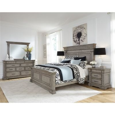 Madison Ridge 6 Piece Bedroom Set in Bluff Grey Finish by ...