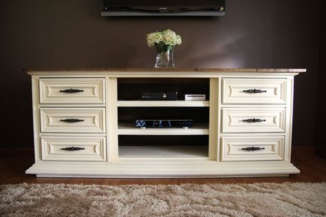 New Entertainment Center (made from an Old Dresser!)
