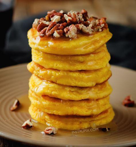 Easy Pumpkin Pie Pancakes 4 Ingredients