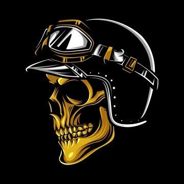 Skull Rider Png And Vector Skull Icon Skull Motorcycle Illustration