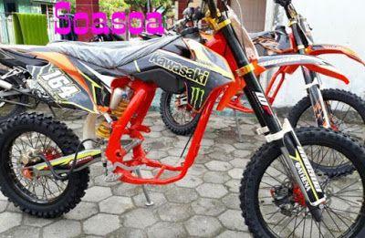 Title Dengan Gambar Motor Trail Motor Anak