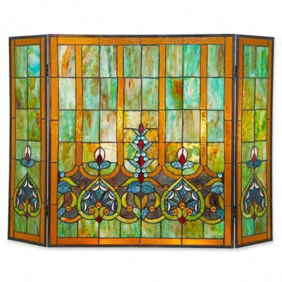 Pin By Carmen Best On Stain Glass Stained Glass Fireplace Screen