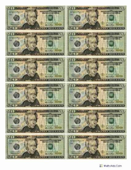Fake 1000 Dollar Bill Printable Best Of Best S Of Printable Play Money Actual Size 1 Dollar Money Worksheets Printable Play Money Play Money