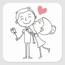 Love Bride Groom Heart Black White Wedding Classic Round Sticker Zazzle Com Love Doodles Valentine Drawing Cute Drawings Of Love