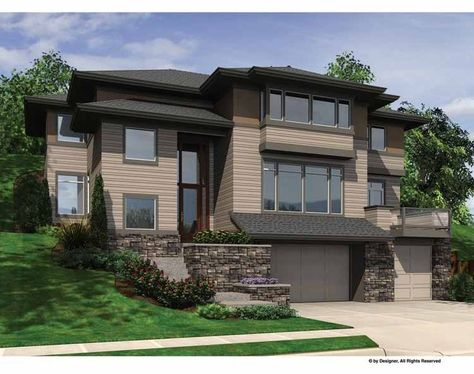 Contemporary-Modern House Plan with 3415 Square Feet and 4 Bedrooms(s) from Dream Home Source | House Plan Code DHSW67340