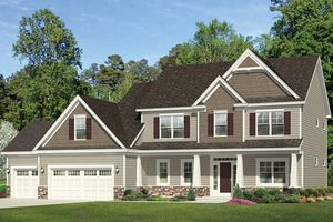 Colonial Style House Plan 4 Beds 2 5 Baths 2234 Sq Ft Plan 1010 35 Colonial House Plans Traditional House Plans Colonial House Exteriors