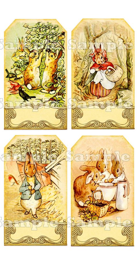 Peter Rabbit Tags Digital Collage Sheet by theHouseAcrosstheBay
