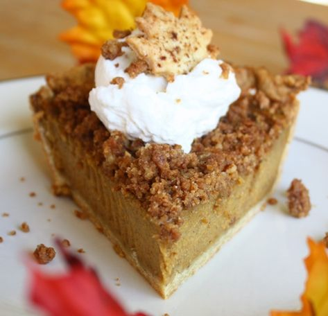 Thanksgiving pumpkin pie with homemade gingered whip cream