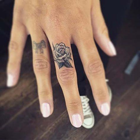 Finger Rose Tattoo Middle Finger Rose Tattoo   - Finger Tattoo - #finger #middle #Rose #tattoo