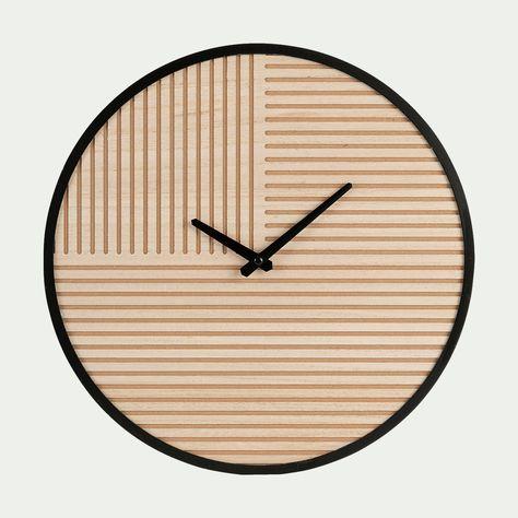 Horloge En Bois à Motifs D40cm Alinéa En 2019 Horloge