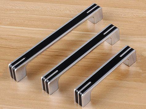 3 78 5 6 Black Silver Dresser Pulls Drawer Handles Kitchen Cabinet Door Handle Pull Modern Cupboard Hardwa Wardrobe