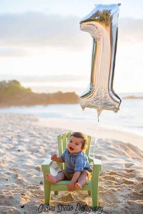 First Birthday Cake Smash Photo Shoot At The Beach