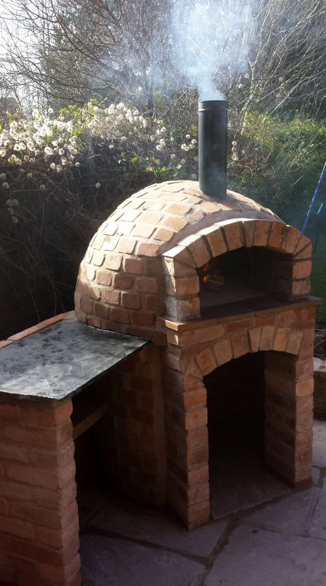 brick pizza oven outdoor Brick built Wood Burning Pizza Oven Milan 750 Round base pizza oven with serving side Brick built Wood Bur
