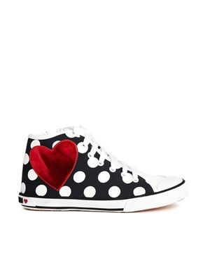 Moschino Sneakers Ss14 Best Polka Dot And Heart From Asos Shoes Women Heels High Top Sneakers Sneakers