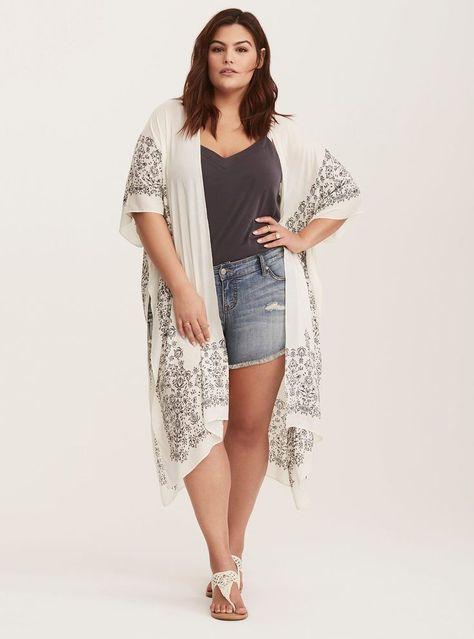 Like the print, but not the background color. Plus Size Bandana Border Print Kim… Like the print, but not the background color. Plus Size Bandana Border Print Kimono Source by…