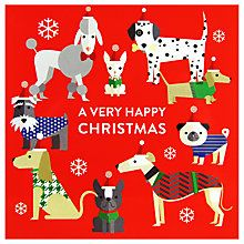 Buy Woodmansterne Christmas Doggies Charity Christmas Cards, Pack of 5 Online at johnlewis.com