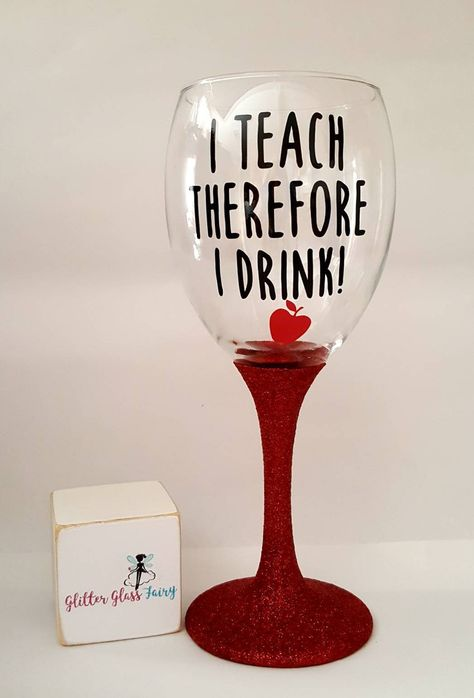 Personalised Engraved Vase Wine Pint Glass Teacher End of Term Thank You Gifts