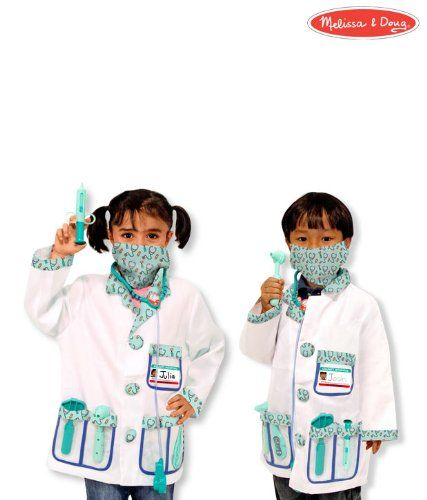 Melissa Doug Doctor Costume Deluxe Role Play Set Toy