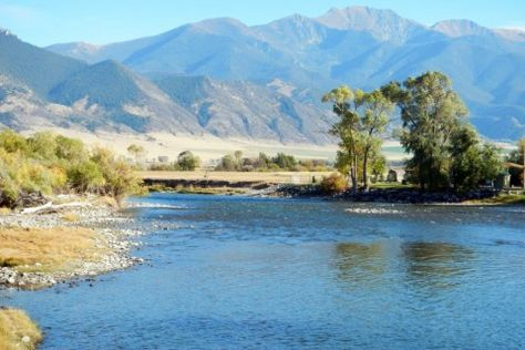Fisherman's Landing on the Jefferson River, near the Tobacco Root Mountains. http://fayranches.com/ranches-for-sale/montana/fishermans-landing-jefferson-river