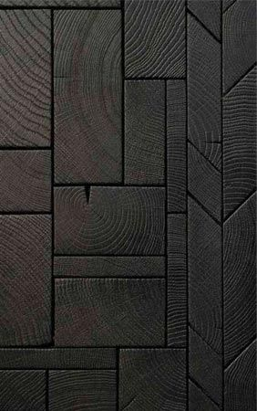 Foret endgrain wood blocks - marquetterie en bois debout