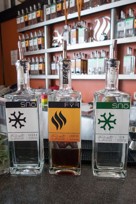 P22 Cezanne font on JL Distilling Company, Superb Spirits Created in Boulder, Colorado by Home Brewing Scientists