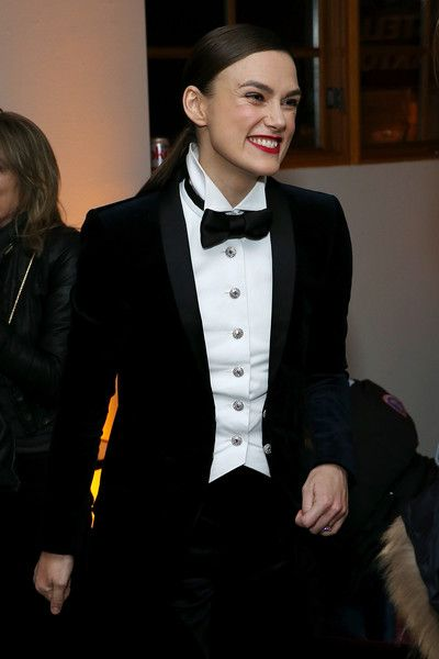 Keira Knightley attends the 'Colette' cast party in Cafe Artois during the  Sundance Film Festival.