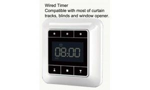 Wired Timer For Ac Motor Electric Curtain Track Window Opener Roller Blind Roller Shutter Curtain Track Window Vents Windows