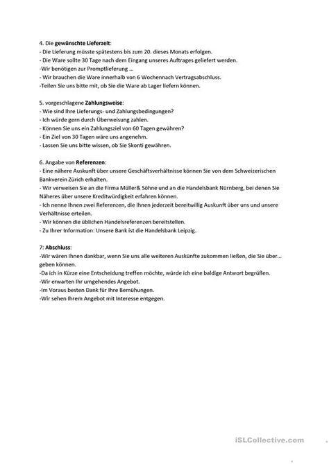 Geschaftsbriefe B1 B2 Beruf Anfrage Teil 2 Geschaftsbrief Briefe Schreiben Daf