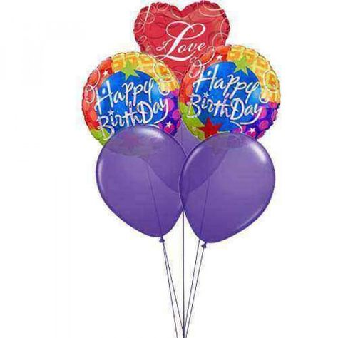 Flying Balloons With Love A Birthday Wish Will Never Be