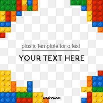 Colorful Border Decoration Memphis Background Lego Lego Frame Lego Blocks