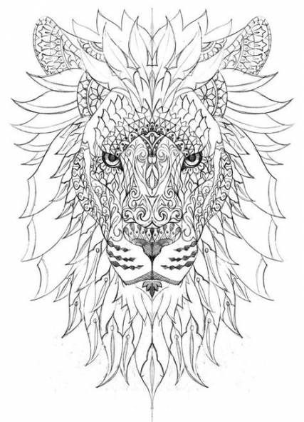 Tattoo Lion Mandala Coloring Pages 49 Ideas Aquarell Lowe Mandala Malvorlagen Mandala Malvorlagen Tiere