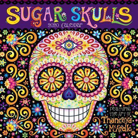 Sugar Skulls 2020 Wall Calendar Sugar Skull Drawings Sugar Skull Drawings Body Art Tattoos Skull A In 2020 Japanese Tattoo Symbols Face Painting Designs Skulls Drawing