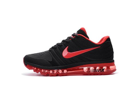 size 40 a1278 4a468 Men s Woman s Nike Air Max 2017 KPU Running Shoes Black Crimson