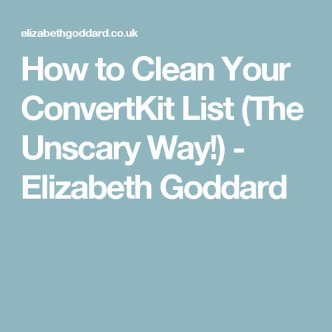 6 Simple Techniques For Elizabeth Goddard Convertkit