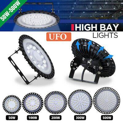 UFO LED High Bay Lights 500W 300W 200W 100W 50W Factory Warehouse Shop Lighting