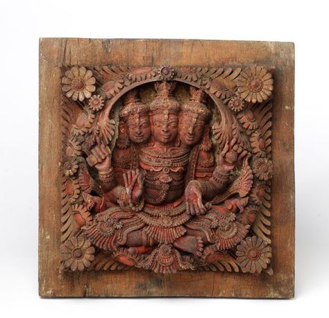 Panel. Cochin, India. Carved teak wood. © Victoria and Albert Museum, London