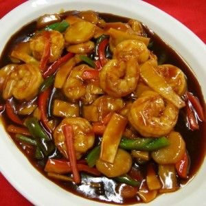 Shrimp Scallops Hunan Style Reunion Chinese Restaurant Shrimp Scallops Seafood Recipes Food