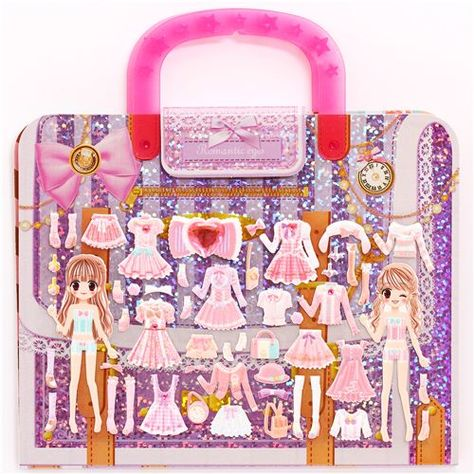 Kamio dress up doll 3D stickers romantic pink outfits from Japan 1