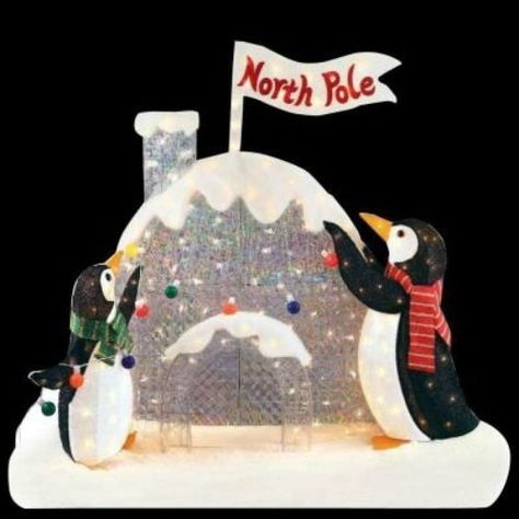 Penguins-Igloo-at-North-Pole-Cute-Lighted-Outdoor-Christmas-Decoration