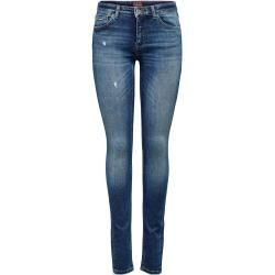 Only Onlcarmen Reg Skinny Fit Jeans Damen Blau Onlyonly