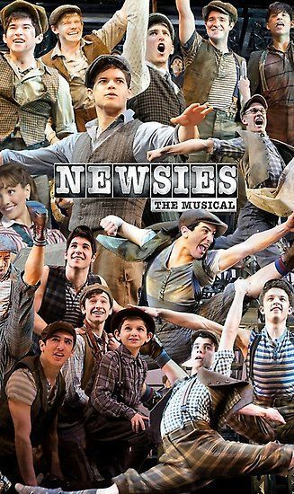 'Newsies Broadway Musical Collage' Poster by RichardRay