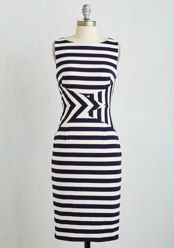 Harbor Act to Follow Dress. This knit sheath dress puts a unique spin on nautical style thats simply impossible to top!  #modcloth