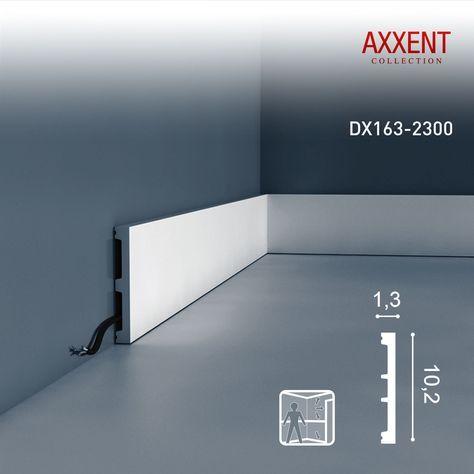 Orac Decor Dx163 2300 Axxent Turumrandung Boden Kabel Wand Decken Leiste 2 30 M 001 Sockelleisten Zierleiste Wandleiste