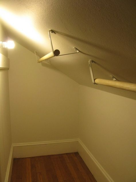 Schenckingtons Closet Of Greatness Slanted Ceiling Closet Wall Closet Closet Bedroom