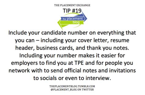 Include your candidate number on everything that you can - resume header