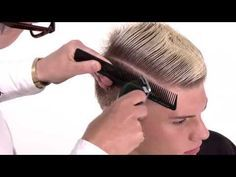 ▶ How To Cut A Modern Pompadour Haircut | Step by Step Tutorial - YouTube