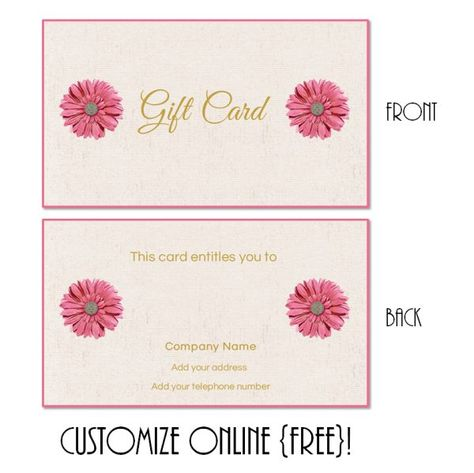Free printable gift card templates that can be customized online - fresh younique gift certificate template